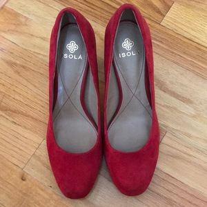 Red Suede Isola pumps